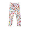 Birds/Flowers Printed Tights For Girls - White (GT-022)