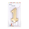 Happy Birthday No 1 Numeric Candle - Gold (NC-011)