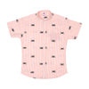 All Over Stripe Bike Shirt For Boys - Peach (BTS-049)