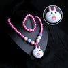 Rabbit Pearl Lighting Necklace - Hot Pink (14036-A)