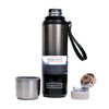 SUS 304 Stainless Steel Water Bottle 750ml - Silver/Black (KD-1015)