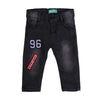 96 Applique Denim Pant For Boys - Grey (DP-27)