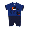 Roar Style Romper For Boys - Blue (IS-24)