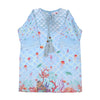 Deep Sea Printed Kurti For Girls - Sky Blue (EK-026)
