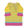 Donut Care Printed Kurti For Girls - Yellow (EK-027)