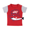 Shark Printed T-Shirt For Boys - Red (BTS-030)