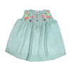 Flower Embroidery Top For Girls - Sea Green (CT-046)
