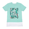 Enjoy Every Moment T-Shirt For Girls - Green (BTS-036)