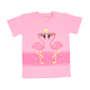 Flamingo T'Shirt For Girls - Pink (BTS-046)