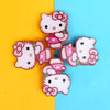 Kitty Hair Pin For Girls - White (12024)