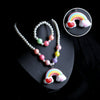 Rainbow Lightning Necklace - White (12532)