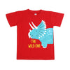 Wild One T-Shirt For Boys - Maroon (BTS-086)