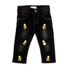Pineapple Denim Pant For Girls - Black (DP-31)