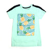 Pineapple T-Shirt For Girls - Green (GTS-082)