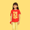 Fabulous T-Shirt For Girls - Red (CT-085)