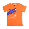 Shark T-Shirt For Boys - Orange (BTS-054)