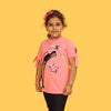 Rainbow Star T-Shirt For Girls - Pink (CT-087)