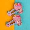 Kitty Hair Pin For Girls - Pink (12024)