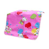 Teddy Bear Printed Baby Changing Sheet  - Pink (S-74)