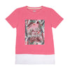 Enjoy Every Moment T-Shirt For Girls - Pink (BTS-037)