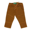 Cotton Panel Cord Pant For Boys - Saffron (CP-28)