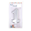 Happy Birthday No 1 Numeric Candle - Silver (NC-014)