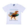 Dinosaur Sequin T-Shirt For Boys - White (BTS-039)