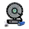 Portable Table Fan For Kids - Black (E18)