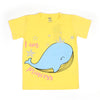 Dolphin T'Shirt For Girls - Yellow (BTS-041)
