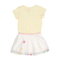 Smile Be Happy Frock For Girls - Yellow (1693)