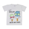 Just Chill T'Shirt For Girls - White (BTS-037)