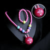 Rabbit Pearl Necklace - Hot Pink (14036)