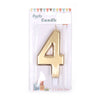 Happy Birthday No 4 Numeric Candle - Gold (NC-013)
