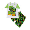 Ninja Turtles 2 PCs Suit For Boys - White/Green (SB-036)