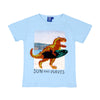 Dinosaur Sequin T-Shirt For Boys - Sky Blue (BTS-040)