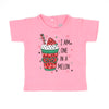 I Am One In A Melon T'Shirt For Girls - Pink (BTS-036)