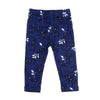 Flowers Printed Tights For Girls - Navy (GT-047)