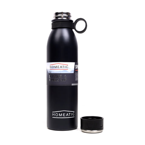SUS 304 Stainless Steel Water Bottle 750ml - Black (KD-030)