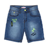 Palm Emb Denim Short For Boys - Ice Blue (CS-013)