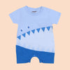 Printed Romper For Boy - Blue (104-079)