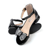 Fancy Bow Heel Sandals For Girls - Black (B335-1S)