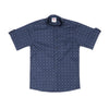Dotted Casual Shirt For Boys - Navy (BTS-048)