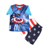 Captain America 2 PCs Suit For Boys - Blue (SB-028)