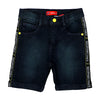 Unstop Tape Denim Short For Boys - D. Green (DS-009)