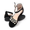 Fancy Heel Sandals For Girls - Black (A-7019S)