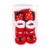 Baby Lucky Booties Gift Set For Baby Girl - Red (BOT-0034)