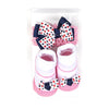 Baby Lucky Booties Gift Set For Baby Girl - White (BOT-0034)