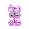 Baby Lucky Booties Gift Set For Baby Girl - Purple (BOT-0034-A)