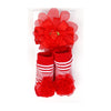 Baby Lucky Booties Gift Set For Baby Girl - Red (BOT-0034-A)