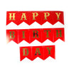 Happy Birthday Hanging Banner - Red (60003)